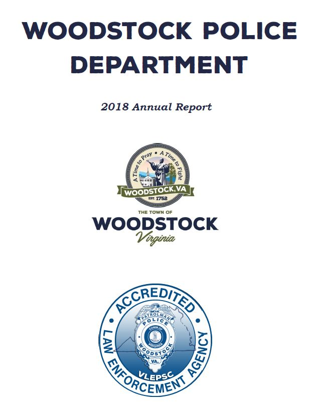 Woodstock Police Department 2018 Annual Report Cover