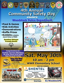 4th Annual Community Safety Day - Saturday, May 30th, 2015 from 10 am to 2 pm